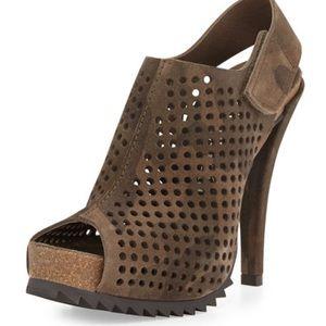 Pedro Garcia Camo Shoes Perforated Suede Velcro